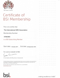 GRCA Member of the BSI