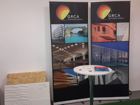 GRCA Show booth at Cafe Concrete